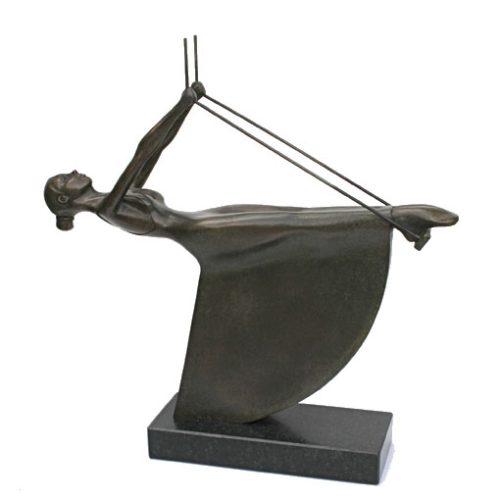 """Frans van Straaten bronzen beeld 'Schommelen-III"""""""