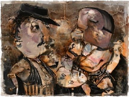 Guy Olivier zeefdruk 'Frans Café'