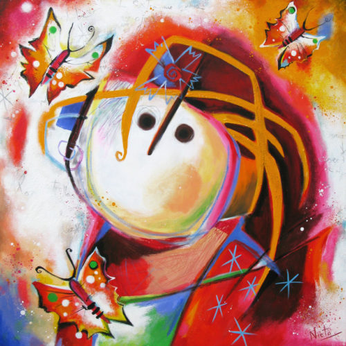 Angeles Nieto schilderij 'Mariposa'