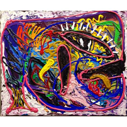Albert Niemeyer schilderij 'Schilderij voor een Kind, 1990'