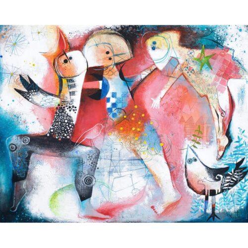 Angeles Nieto schilderij 'Bailando al viento'