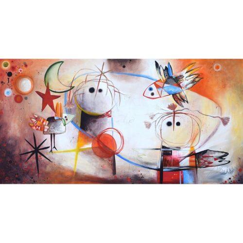 Angeles Nieto schilderij 'Juntos'