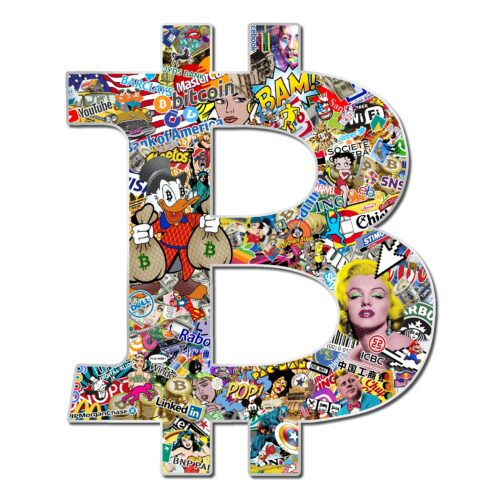 Michael Daniels POP-ART 'Bitcoin'
