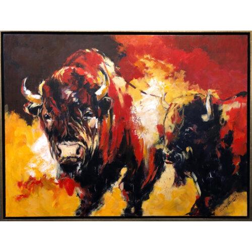 Ricky Damen painting 'Bizons'