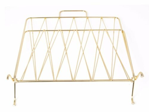 Menza magazine rack gold.