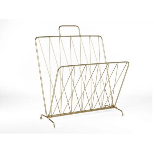 Menza magazine rack gold