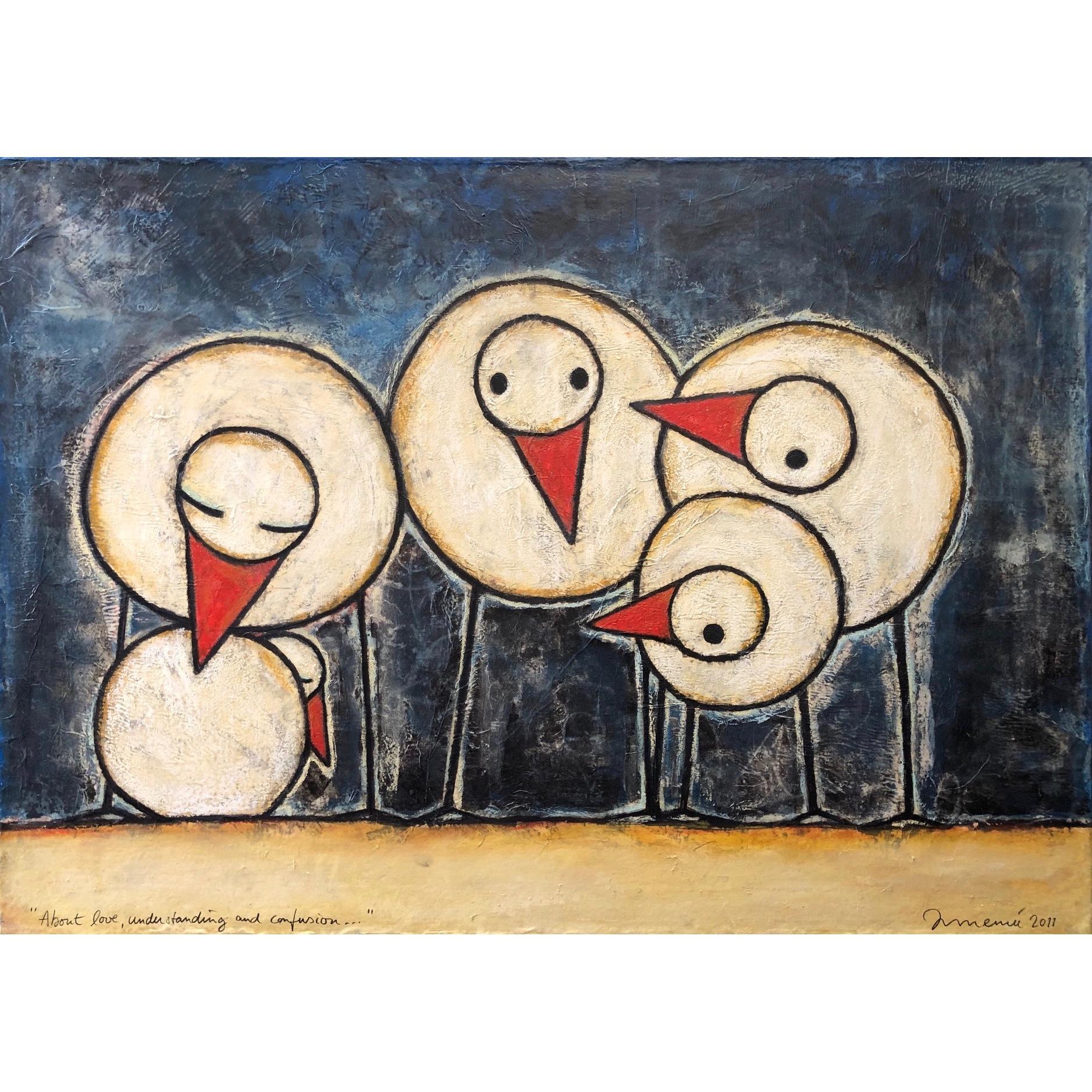Hans Innemee schilderij 'About Love, Understanding and Confusion'