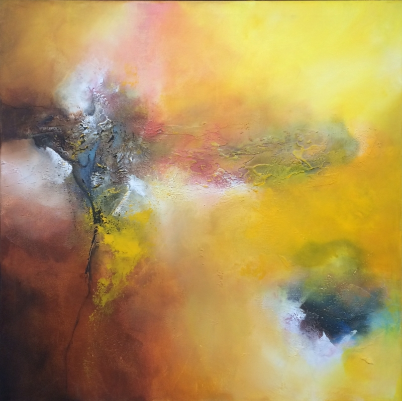 Isabelle Zacher-Finet schilderij 'Abstract'