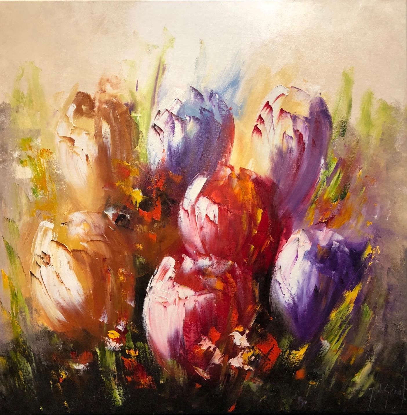 Jochem de Graaf schilderij 'Tulips'
