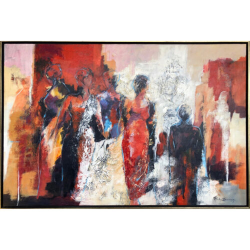 Ricky Damen schilderij 'Good Company