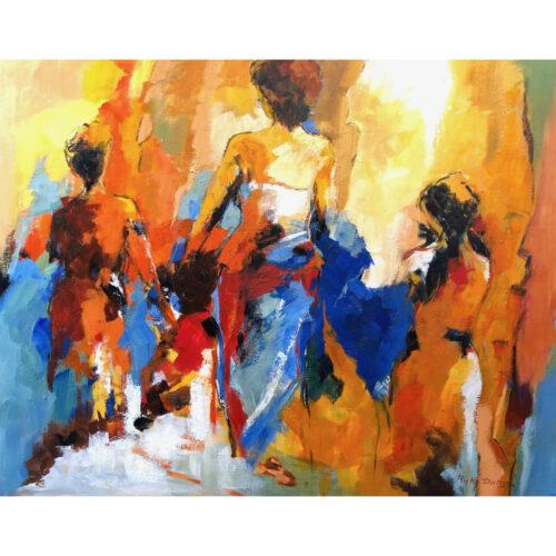 Ricky Damen schilderij 'Sister Love'