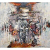 Ricky Damen schilderij 'Two Figures'