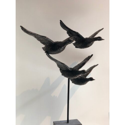 Rob Nagtzaam bronzen beeld 'Eenden in vlucht'