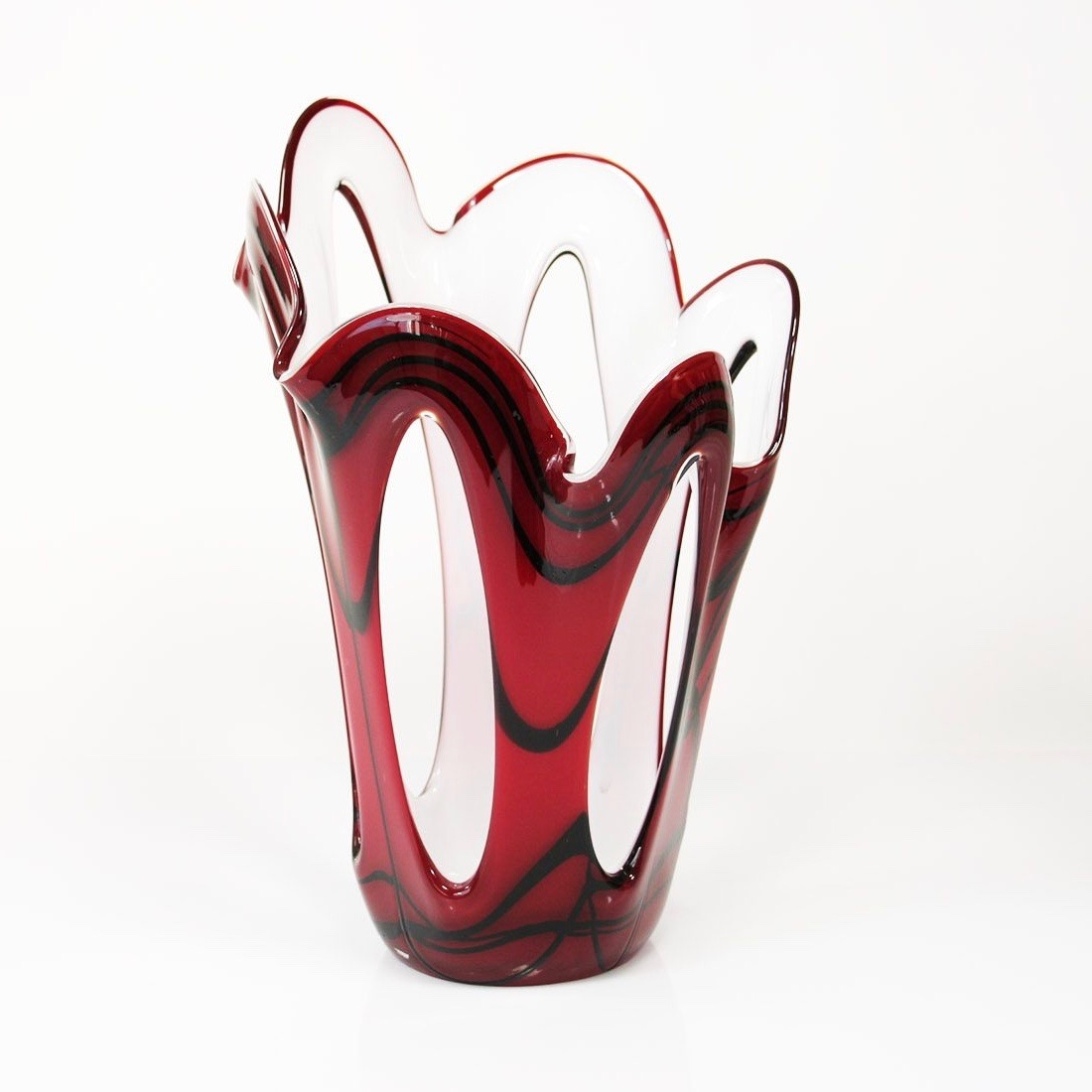 Loranto glas Vaas open 'Red and White'