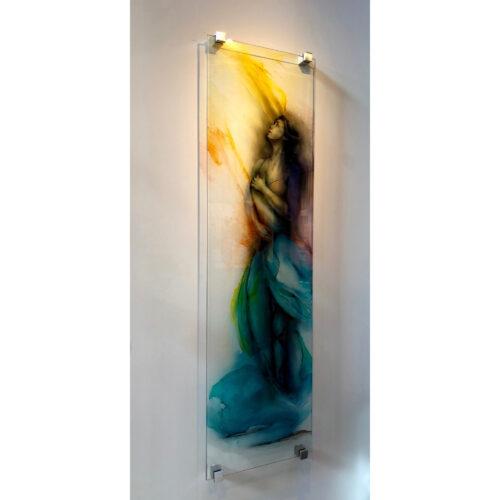 Dechaux glaspaneel 'Life is a dance'