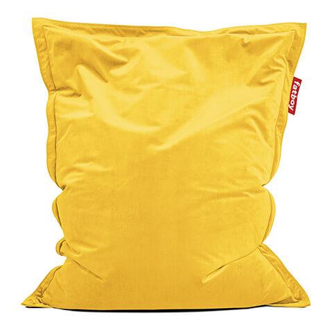 Fat Boy Zitzak.Fatboy Zitzak Slim Velvet Yellow 155 X 120 Cm Artconsilio