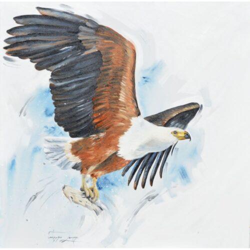 Vanessa Lomas schilderij 'Succes!'