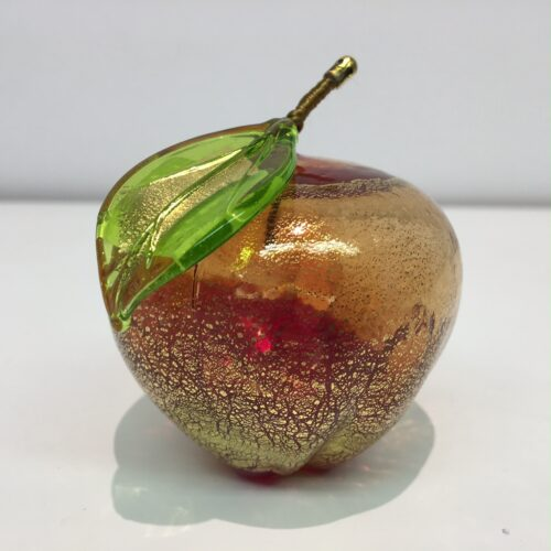 Murano glas beeld appel 'Rood'