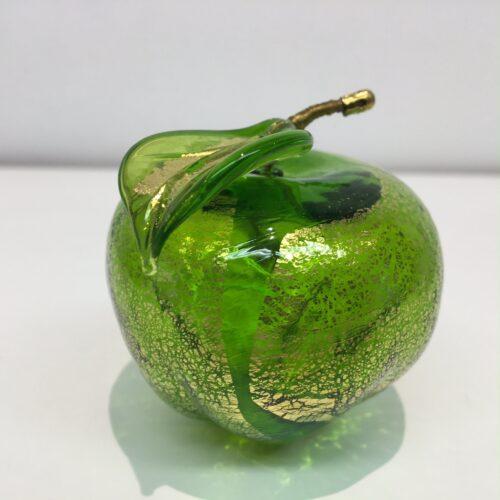 Murano glas beeld appel 'Groen'