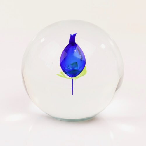 Loranto Ozzaro kristal bol 'Tulp blauw'