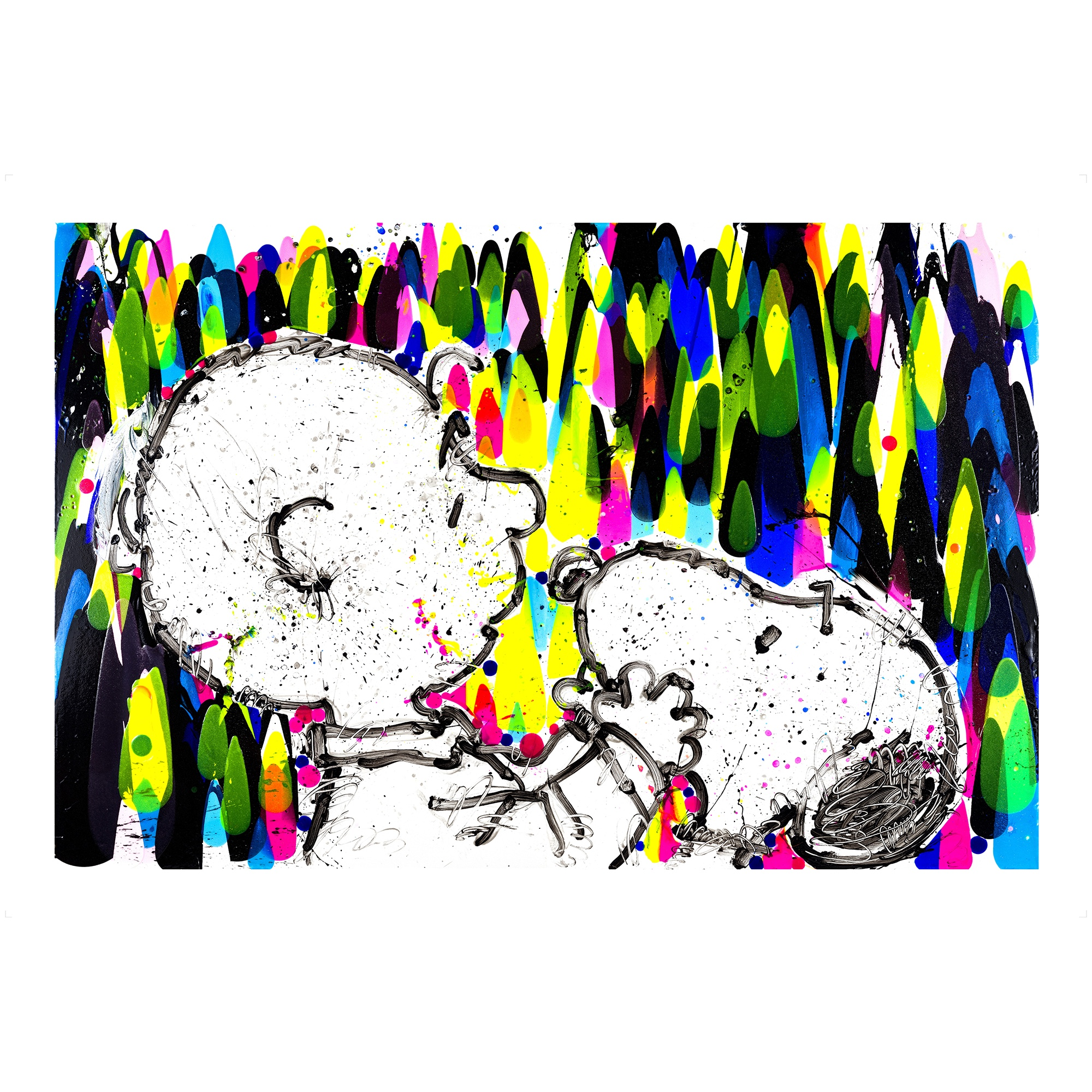 Tom Everhart mixed medium on paper 'Salmon Breath'