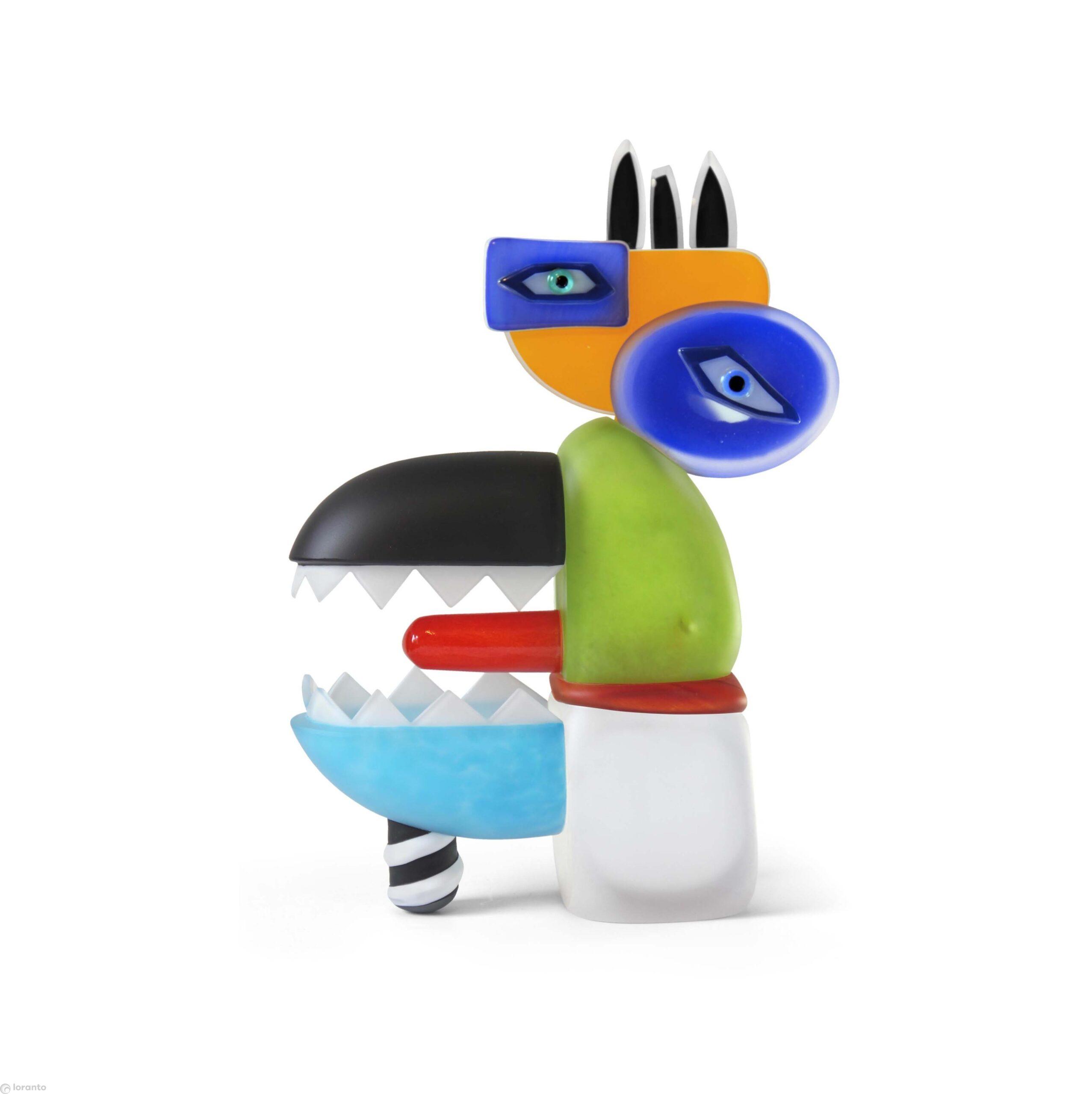 Loranto Ozzaro glazen beeld 'Sea Wolf'