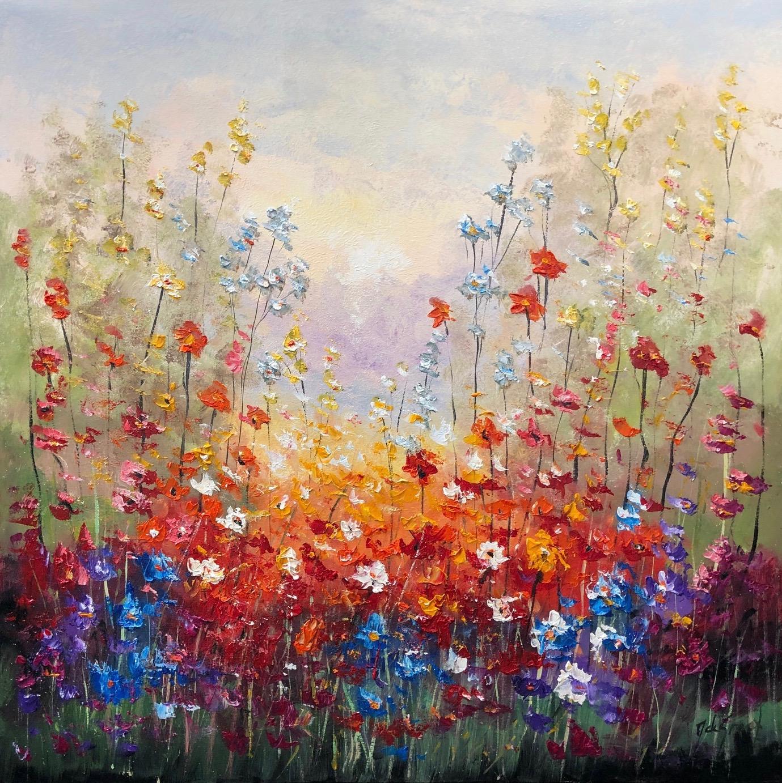 Jochem de Graaf schilderij 'Fieldflowers'