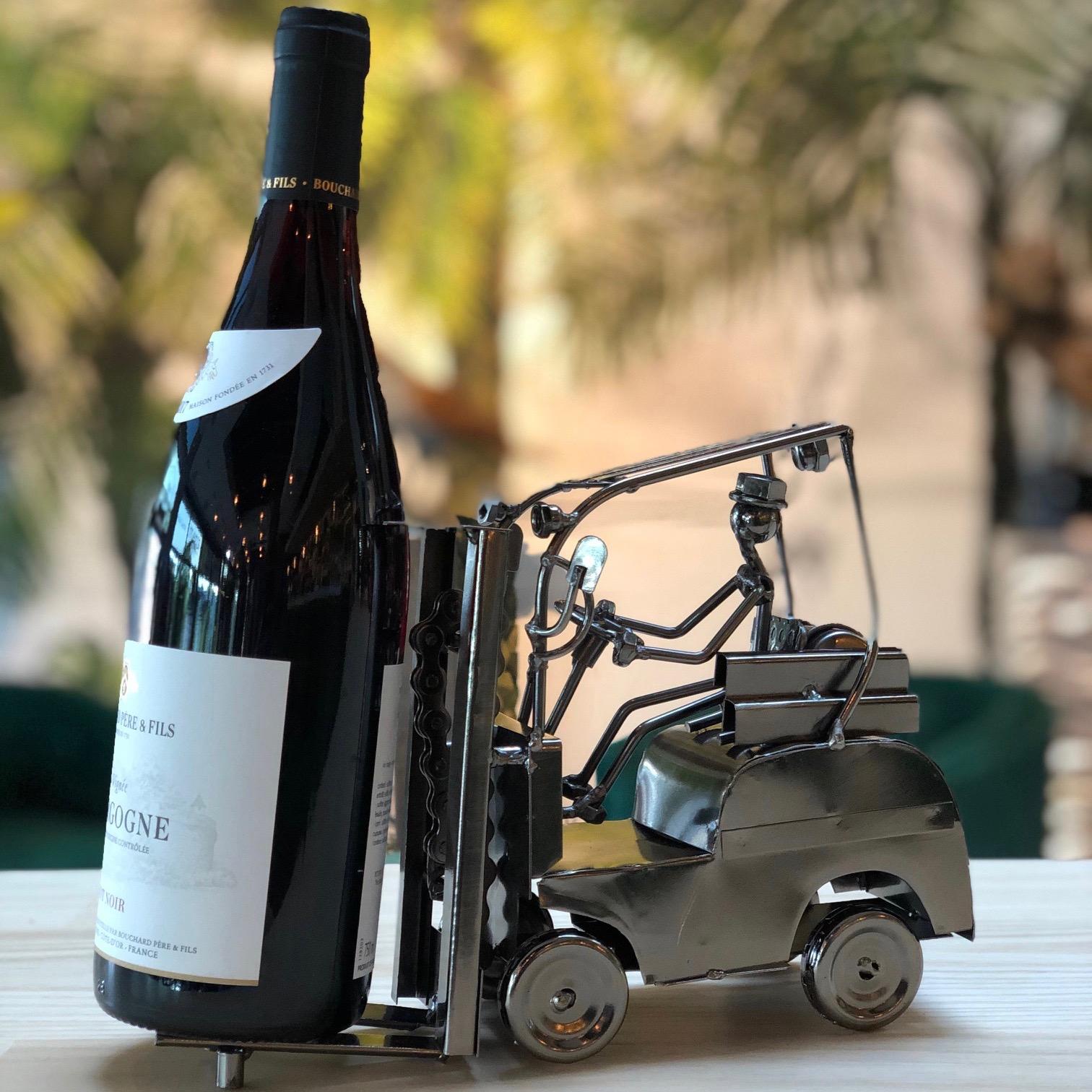 Formano rvs wijnfleshouder 'Heftruck'