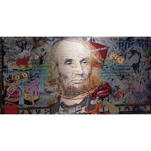 Micha Baker schilderij 'Crypto Art'