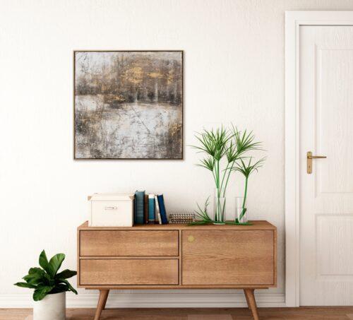 Schilderij 'Abstract landschap'