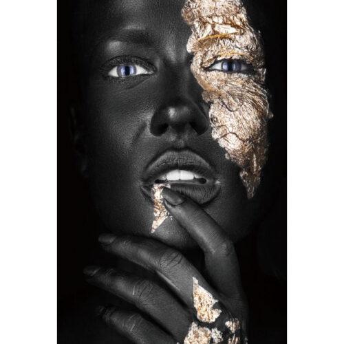 Glas schilderij 'Golden Beauty'