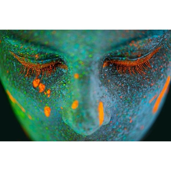 Glas schilderij 'Neon Beauty'