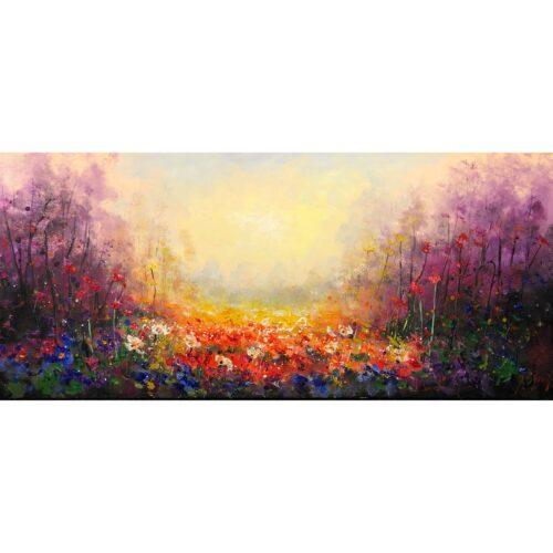 Jochem de Graaf schilderij 'Flowerfield'