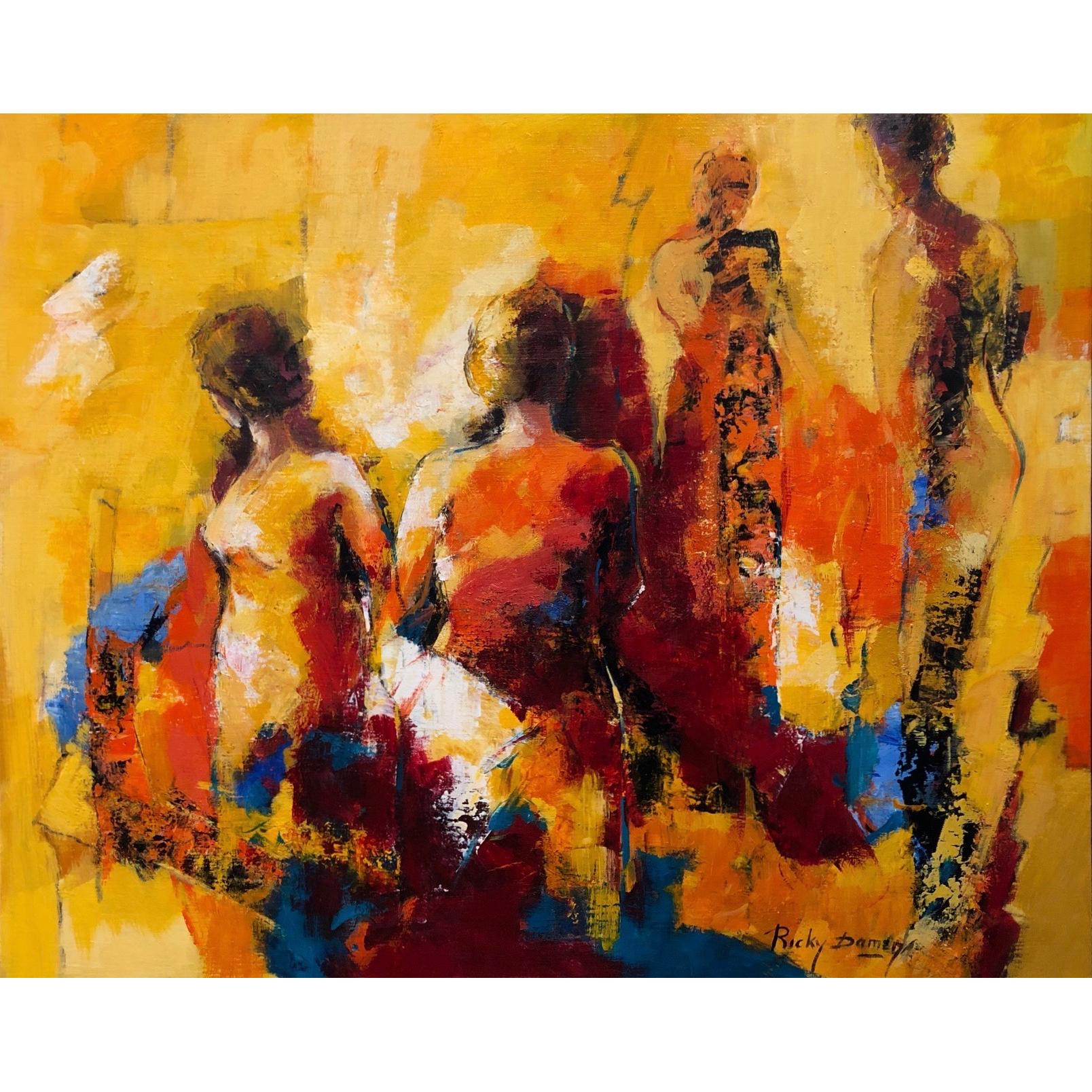 Ricky Damen schilderij 'De Danszaal'