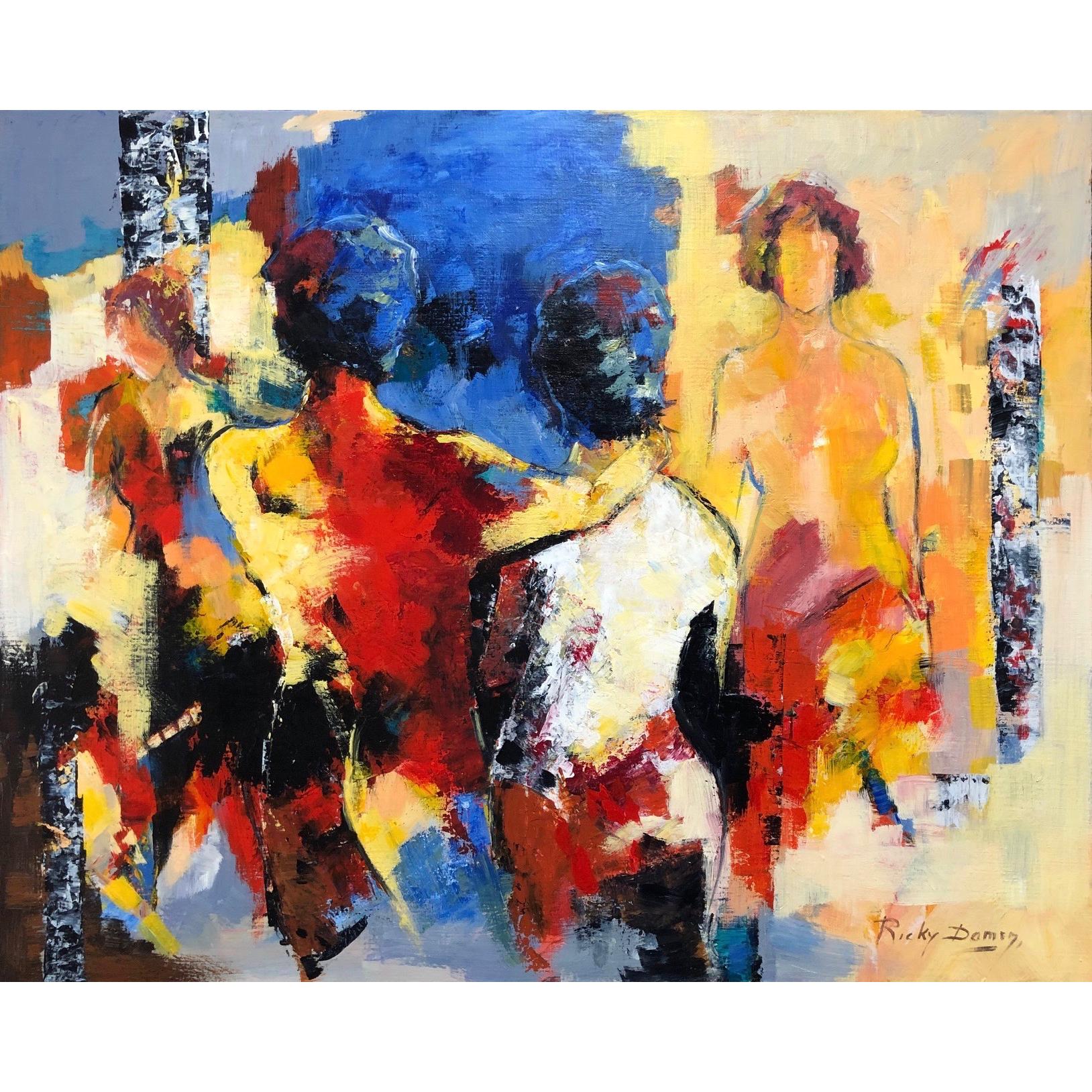 Ricky Damen schilderij 'De Familie'