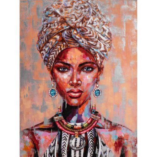 Schilderij 'Afrikaanse vrouw I'
