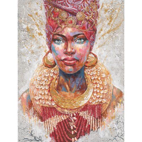 Schilderij 'Afrikaanse vrouw II'