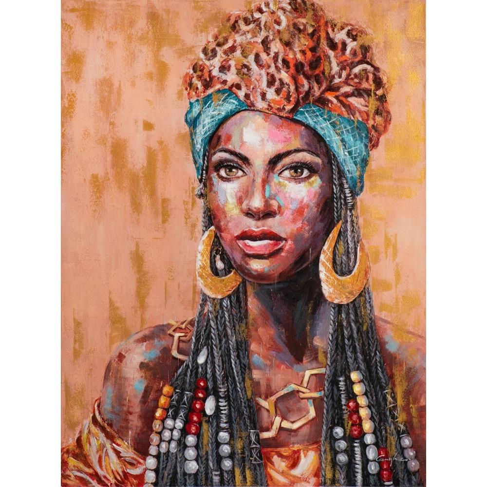Schilderij 'Afrikaanse vrouw III'