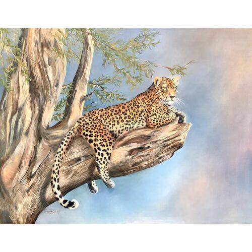 Vanessa Lomas schilderij 'Sky view'