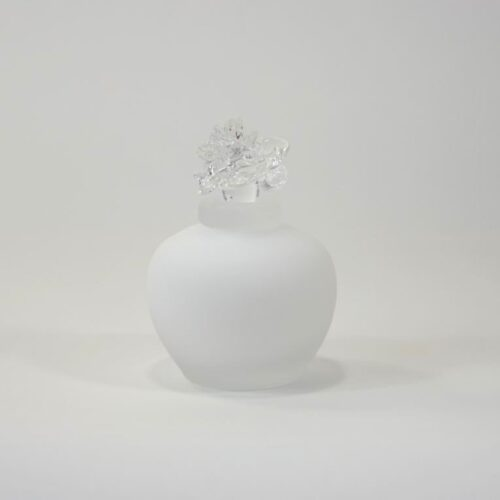 Loranto glas mini urn roos 'Wit'
