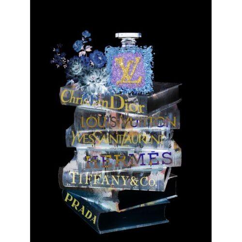 Foto op glas 'Fashion Books II'