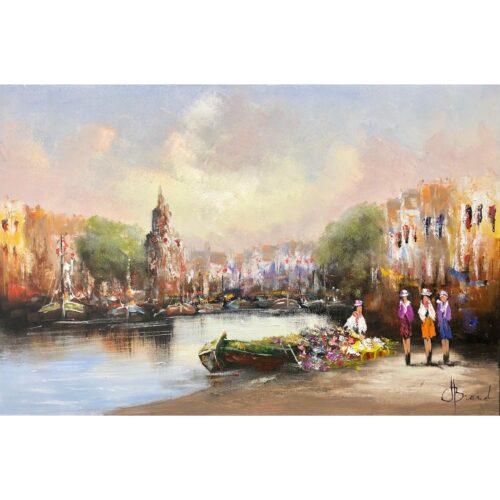 Henry Brand schilderij 'City Harbour'