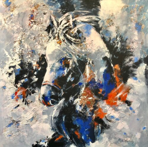 Ricky Damen schilderij 'Pony'