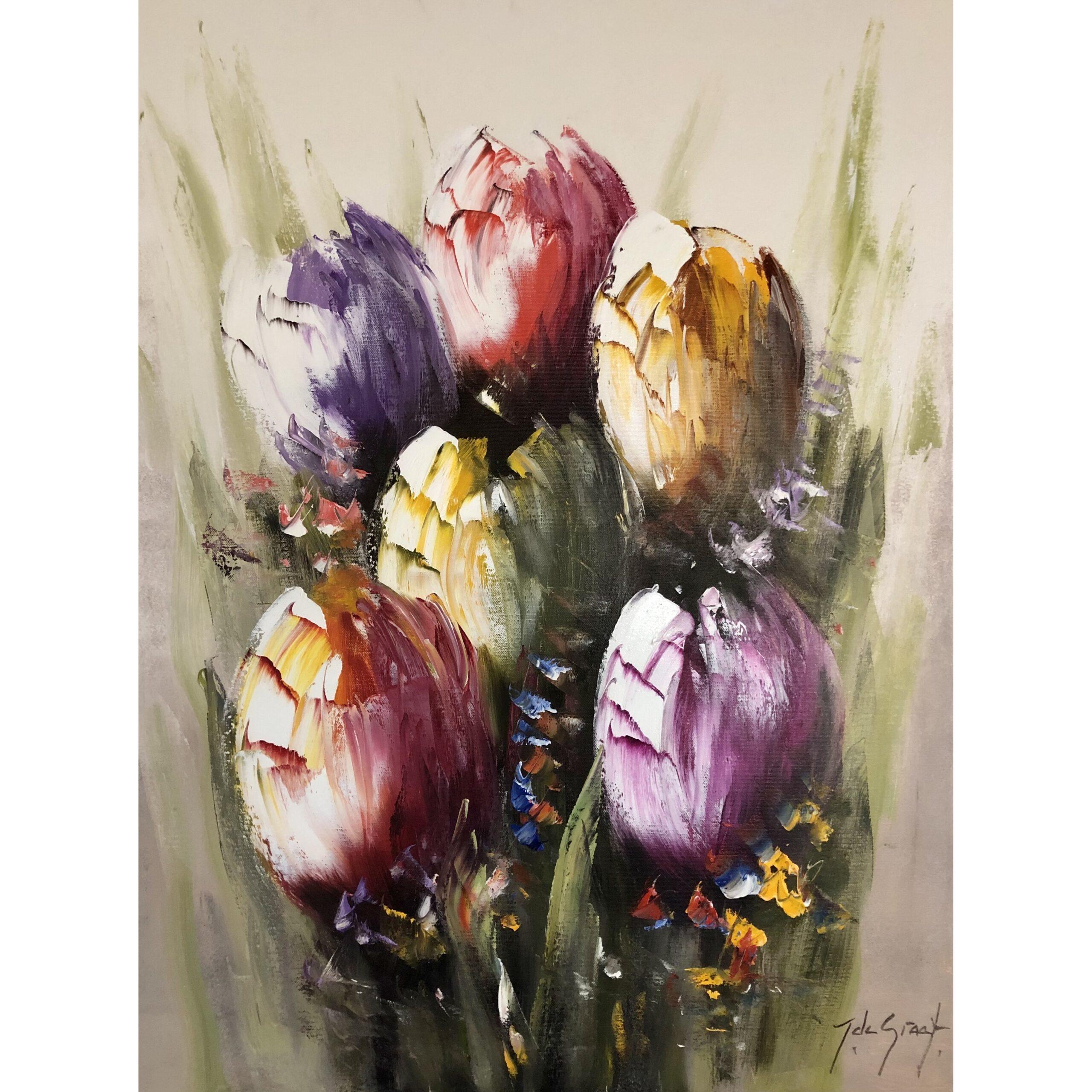 Jochem de Graaf schilderij 'Tulips III'