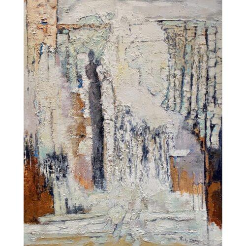 Ricky Damen schilderij 'Morning walk'