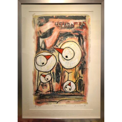Hans Innemee zeefdruk 'The astonished ones...'