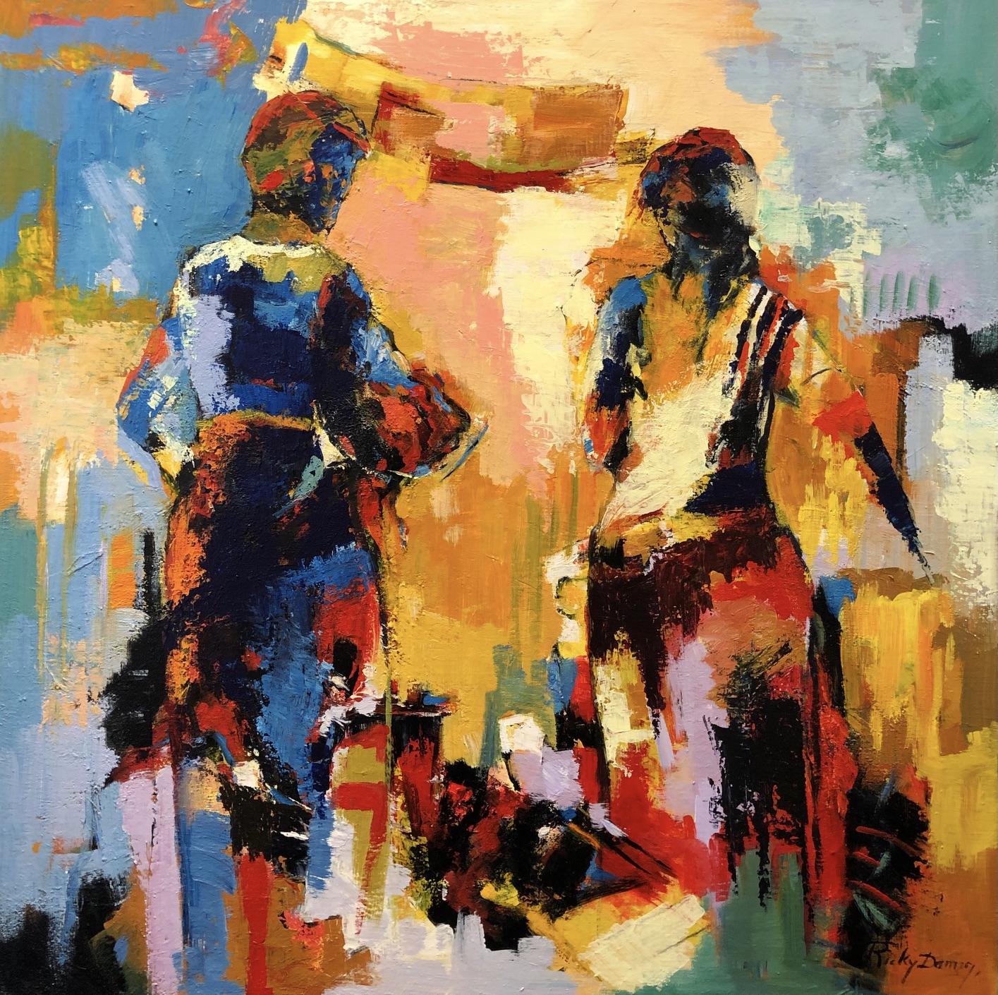 Ricky Damen schilderij 'Happy Reunion'